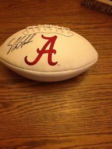 Nick Saban Signed Alabama Crimson Tide Football