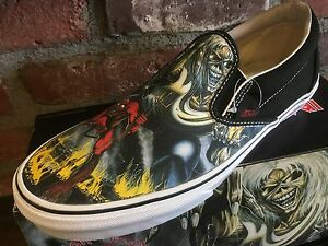 6ea97f03201 Vans Classic Slip On (Iron Maiden 30th) Number Beast VN-0QFDIM3 ...