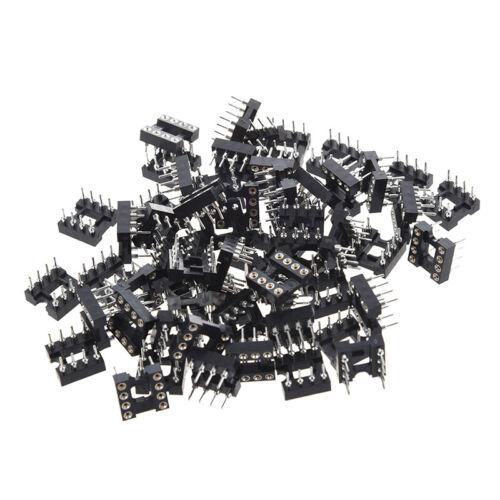 60 Stueck 8 Rund Pin 2,54 mm Pitch DIP IC Adaptor Socket  G1D4 N0L8