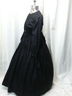Pioneer CLOSE OUT BLACK Costume Dress Perm Press Victorian Civil War