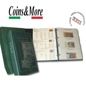 Album Raccoglitore COMPLETO Masterphil Banconote in Lire REPUBBLICA ITALIANA