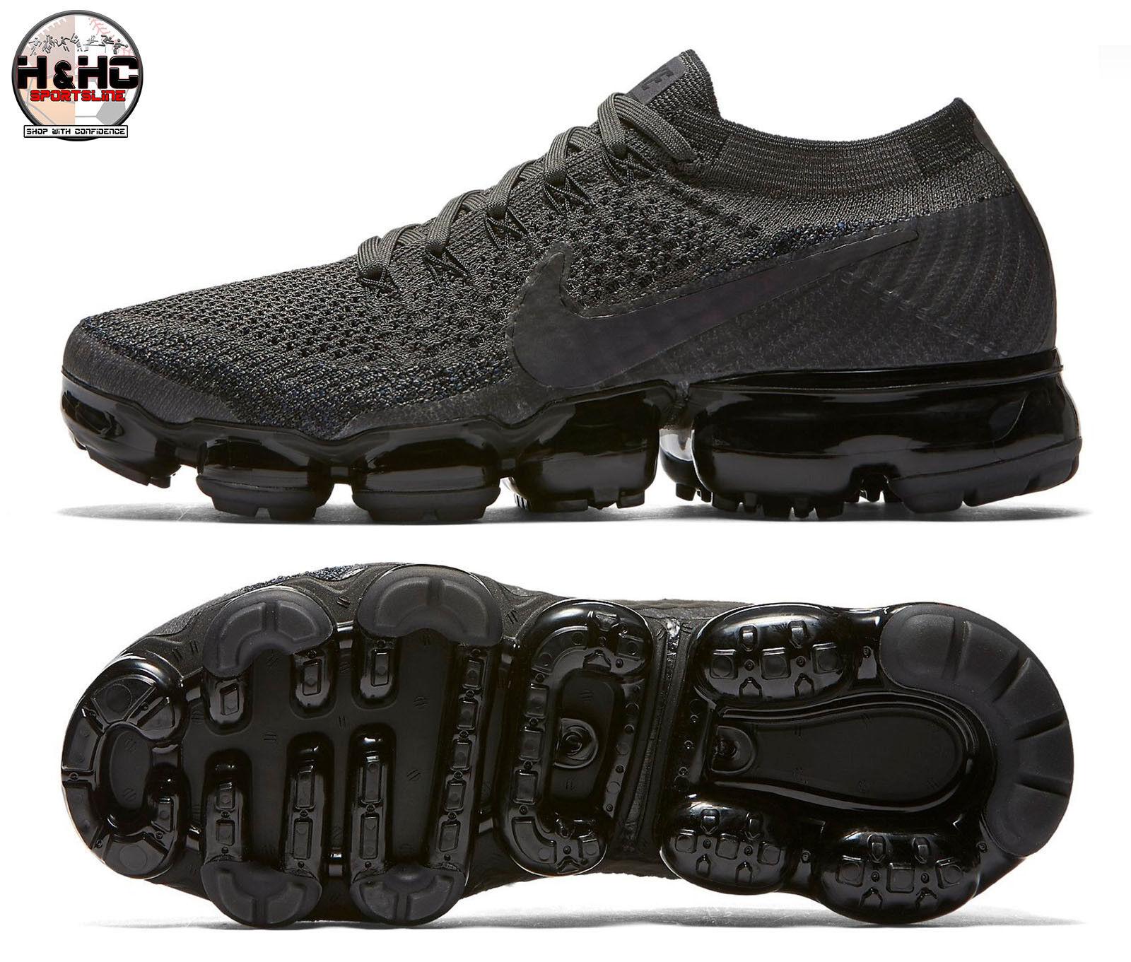 Nike air vapormax flyknit 849557 009 mezzanotte nebbia / donne nere e scarpe sz - 8