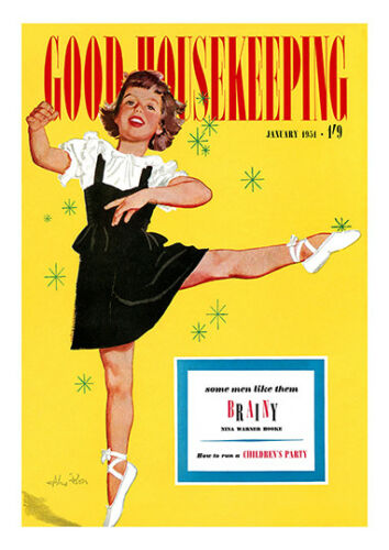Good housekeeping 1951 Vintage Magazine cover poster reproduction.