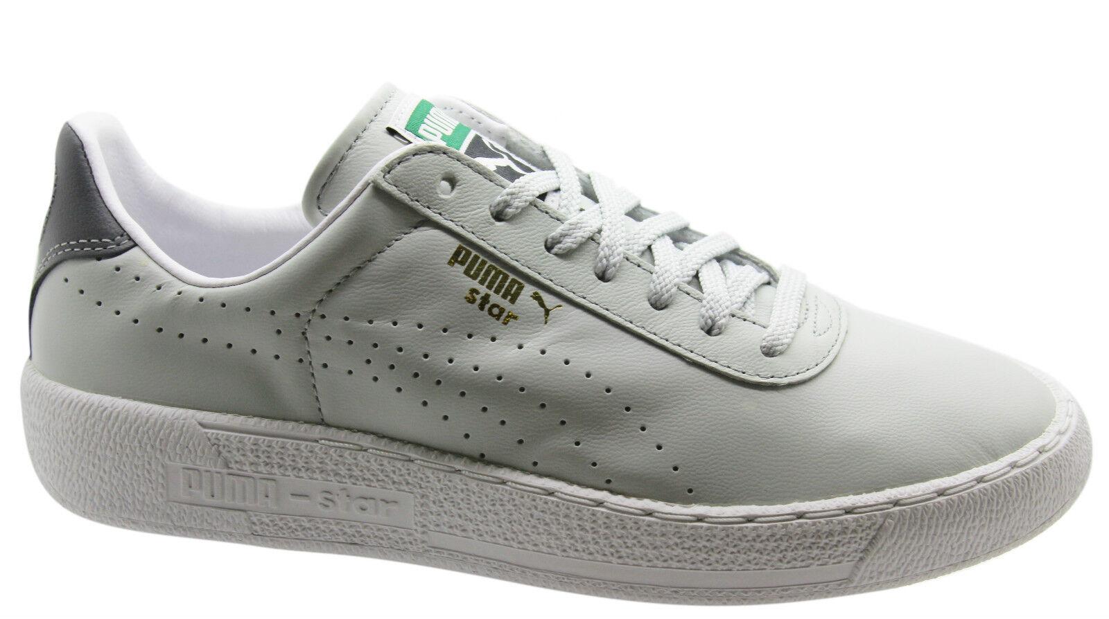 Puma Star Männer Turnzapatos hellgris Leder Unisex NIEDRIGE zapatos 359276 10 D79