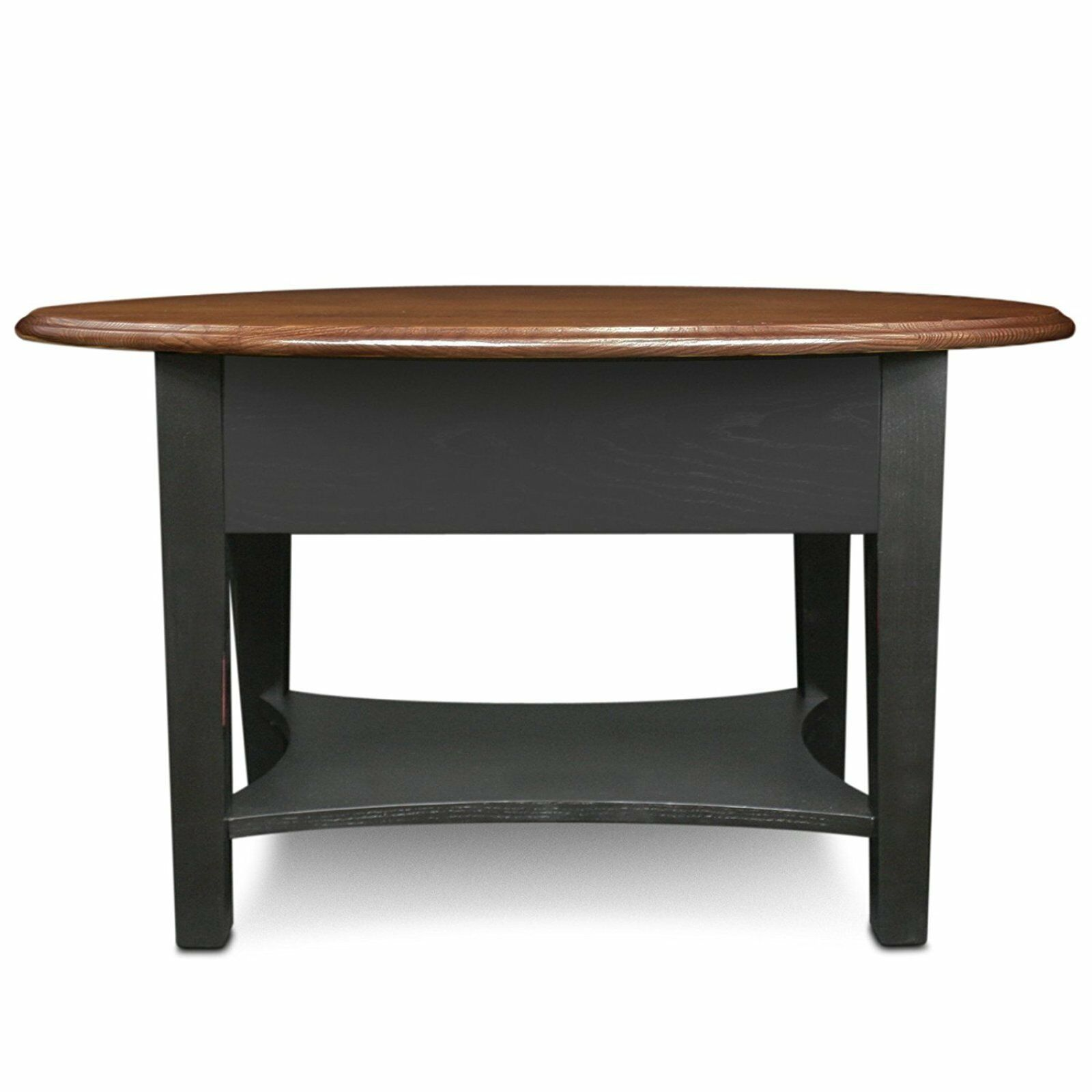 Oval Small Spaces Coffee Table Medium Oak Large Solid Wood Storage