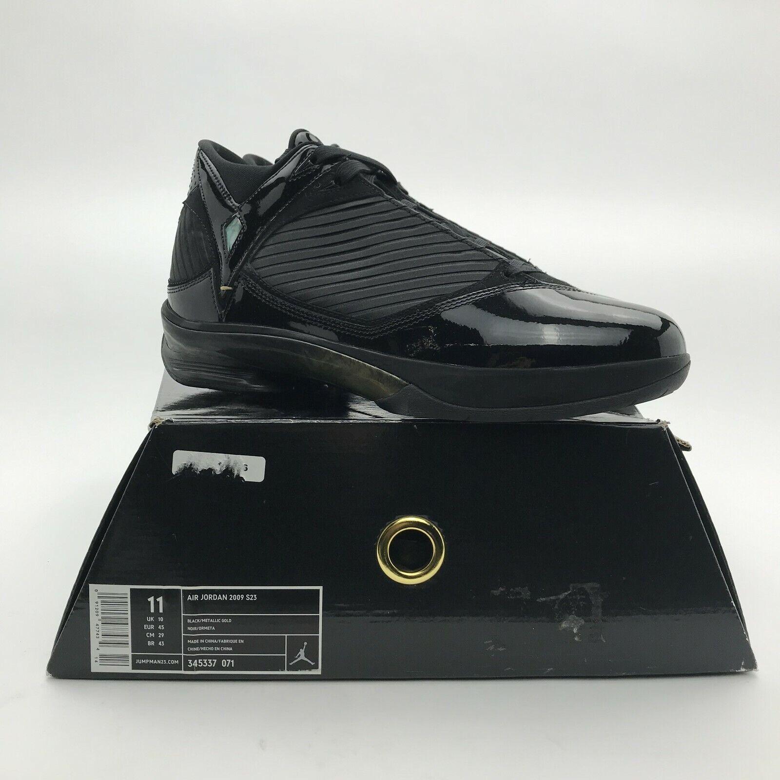 2009 Nike Air Jordan S23 Retro OG Black Metallic gold 345377-071 NEW Men US 11
