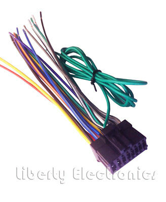 New 16 Pin Auto Stereo Wire Harness For, Avic D3 Wiring Diagram