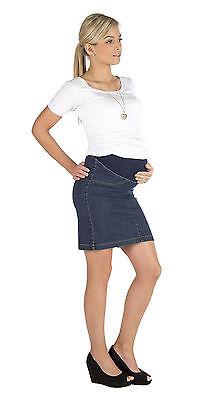 Jeans Umstandsrock Rock Knielang Umstand Stretch Bauch