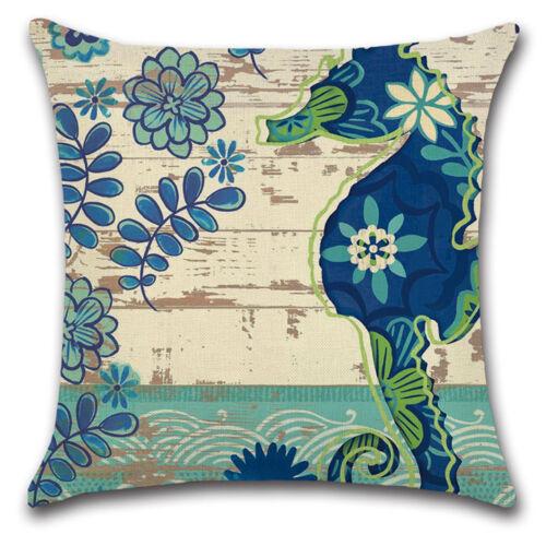 "Marine Organism Octopus Shell Pillowcase Linen Cushion Cover 18/"" Pillow Cover"
