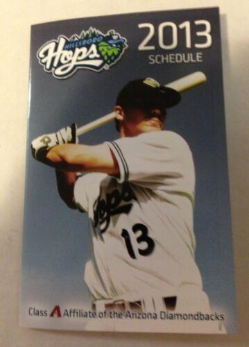 Hillsboro Hops 2013 Arizona Diamondbacks NWL Pocket Schedule bundle save