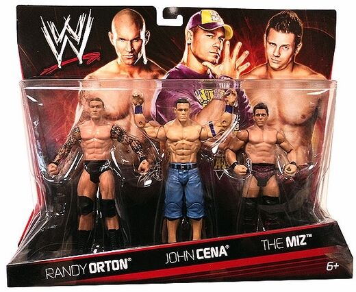 Officiel MATTEL WWE Randy Orton série de base, john cena & The Miz figure