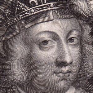 Portrait-XVIIe-Clovis-III-Roi-des-Francs-Austrasie-Imposteur-Ebroin-Maire-Palais