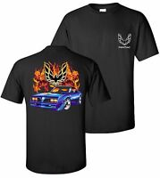 Black 1977 Pontiac Firebird Trans Am Flame T-shirt Classic Muscle Car