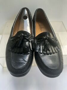 cole haan mens dress shoes black leather casual slip on