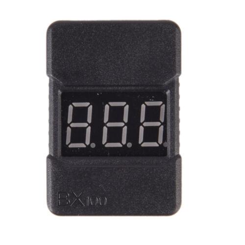 BX100 1-8S Lipo Li-ion Battery Voltage Tester Monitor Low-Voltage Buzzer Alar QP