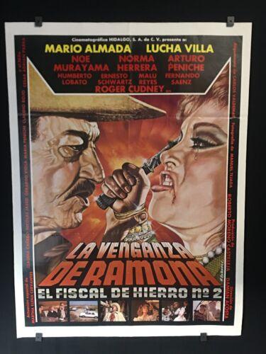 """1990 LA VENGANZA DE RAMONA Mario Almada Authentic Mexican Movie Poster ~27/""""x36/""""~"""