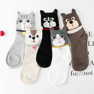 Cute Women Girls Lovely 3D Animal Cartoon Cat Printed Casual Ankle-high Socks