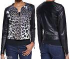 NWT Just Cavalli Leather Moto Jacket Size 46(IT) 10(US) Large