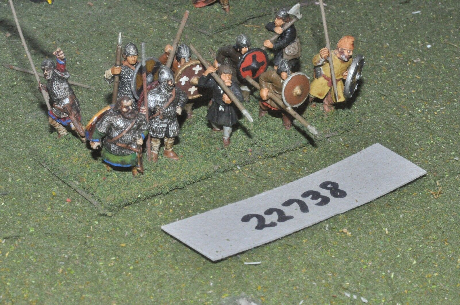 25mm dark ages   anglo saxon - spearmen 10 figs inf - inf (22738)