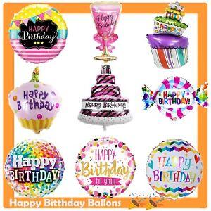Image Is Loading Birthday Balloons Helium Kids Party Happy Cake
