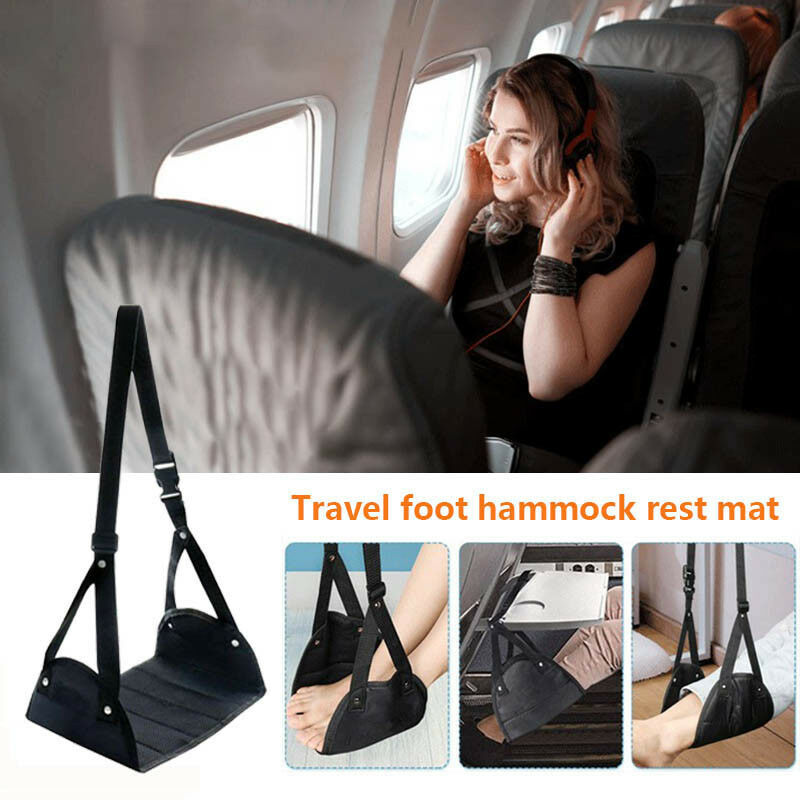 Comfy Hanger Travel Airplane Footrest Hammock Made with Premium Memory Foam Foot 3