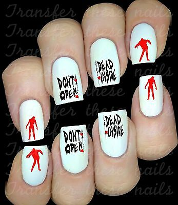 THE WALKING DEAD 30 Stickers autocollant ongles manucure nail art water decal