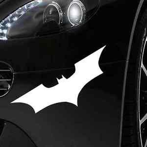 AUTO-AUFKLEBER-AUTO-TATTOO-18x6cm-Weiss-Batman