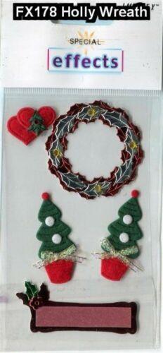 Christmas Holiday Card Topper Sticker Scrap Booking Craft Snowmen Santa