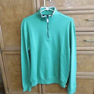 Men-039-s-Ralph-Lauren-Polo-Golf-1-4-Zip-Sweater-green-cotton-soft-sz-S-new-NWT-125