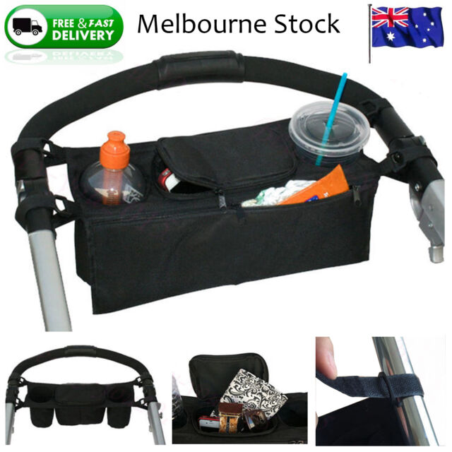 Kids Baby Stroller safe console tray pram hanging bag/cup holder/accessory NEW