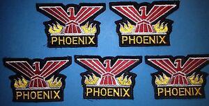 5 Lot Rare 1970's Pontiac Phoenix Iron On Car Club Jacket Hat Patches Crests B