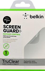 Belkin Damage Control Displayschutzfolie für iPhone SE 5 5S Crystal Clear Pack 1