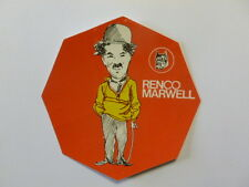 VECCHIO ADESIVO / Old Sticker CHARLIE CHAPLIN (cm 10) Renco Marwell rosso