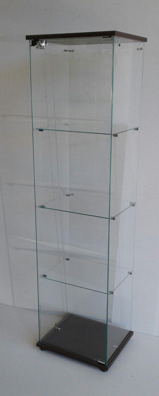 Vetrina in vetro con serratura, vetrina, scharank Kristal, vetrina