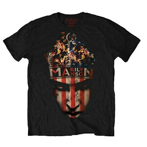 Marilyn-Manson-Crown-Stars-amp-Stripes-OFFICIAL-Unisex-T-Shirt-up-to-XXL-B1