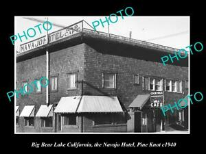 OLD-LARGE-HISTORIC-PHOTO-OF-BIG-BEAR-LAKE-CALIFORNIA-THE-NAVAJO-HOTEL-c1940