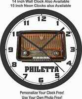 Philetta Antique Radio Wall Clock-rca, Philco, Motorola