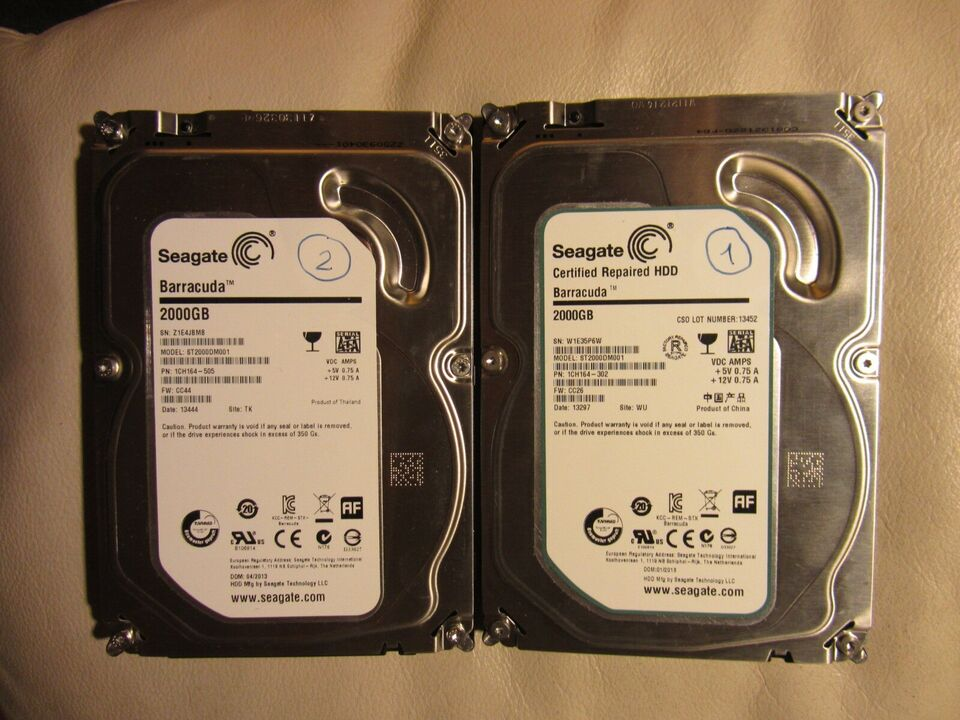 WD-Red, Seagate , 2000 GB
