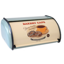 X459 Metal Light gray Bread Box/Bin/kitchen Storage Containers with Roll Top Lid