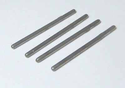 4 X Triang 36mm Knurled Axle For Early Coaches, Wagons & Tenders, Spares