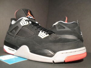 the latest afe0f fdb96 Image is loading NIKE-AIR-JORDAN-IV-4-RETRO-BRED-BLACK-