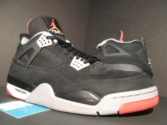 pretty nice a3a46 2f6a1 Nike Air Jordan Retro 4 IV Bred 2012 Size 13 Playoff Breds Red Black for  sale online   eBay