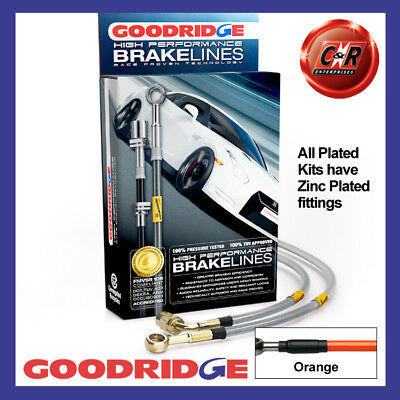 Audi A3 1.4 Tsi All Exc 1lk 07-12 Pl Orange Goodridge Brake Hoses Sau0432-4p-or