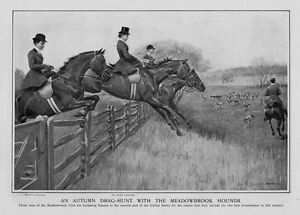 WOMEN-FOX-HUNTING-HORSEWOMEN-AUTUMN-DRAG-HUNT-WITH-THE-MEADOWBROOK-FOX-HOUNDS