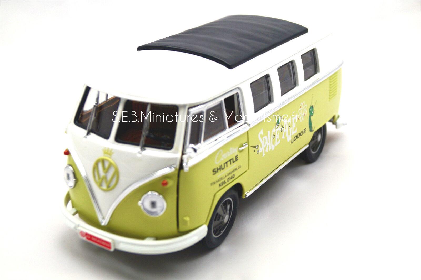 VOLKSWAGEN Minibus Space Age 1962 verdeLIGHT 1 18