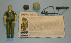 1985 GI Joe Infantry Trooper Footloose v1 Figure & File Card *Near Complete READ