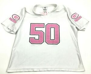 NFL-Greeen-Bay-Packers-AJ-HAWK-Football-Jersey-Women-039-s-Size-XL-Extra-Large-White