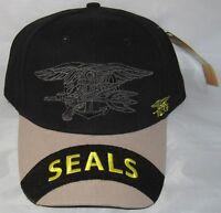 U.s. Navy Seals Baseball Cap Hat. Black. 6129.