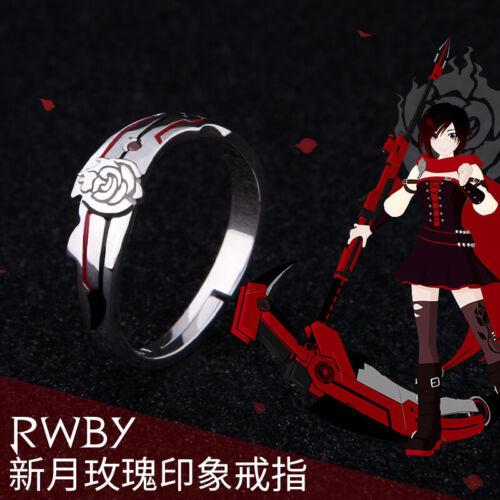 RWBY Ruby Rose Cosplay Japonais Anime Réglable Argent Sterling Anneau Cadeau 24