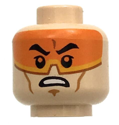LEGO NEW LIGHT FLESH MALE MINIFIGURE HEAD DUAL SIDED STAR WAR PILOT PIECE VISOR